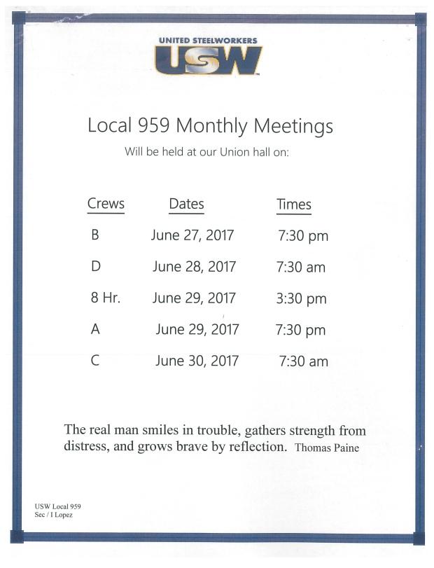 membership meeting June 2017
