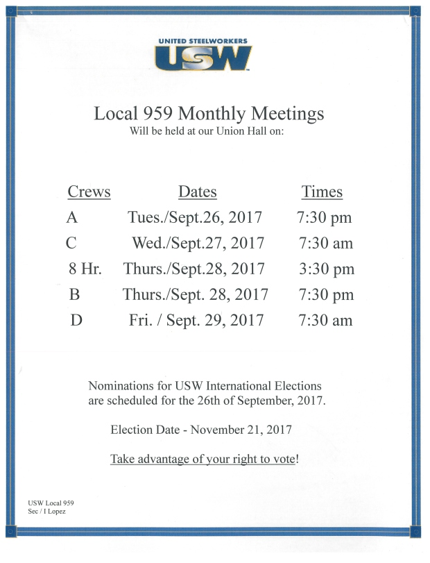 Sept 17 member meeting