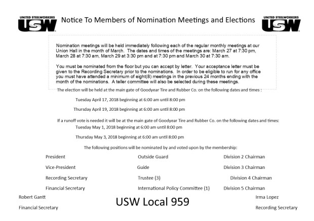 2018 election notice