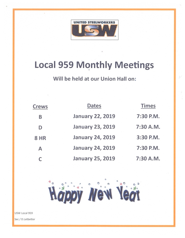 jan 2019 membership meeting