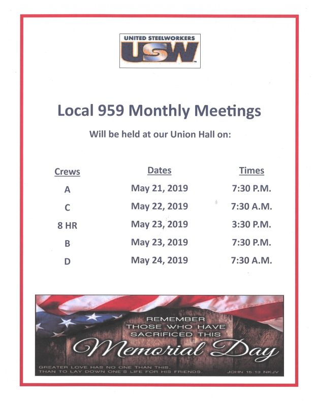 may membership meeting