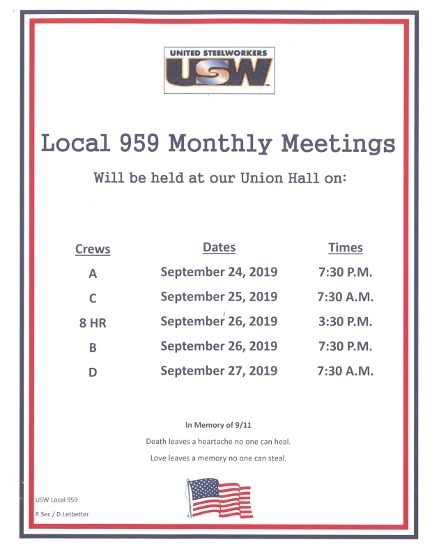 sept 2019 mem meetings