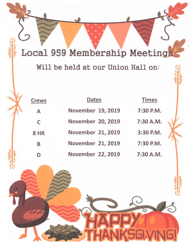 nov 2019 membership meeting