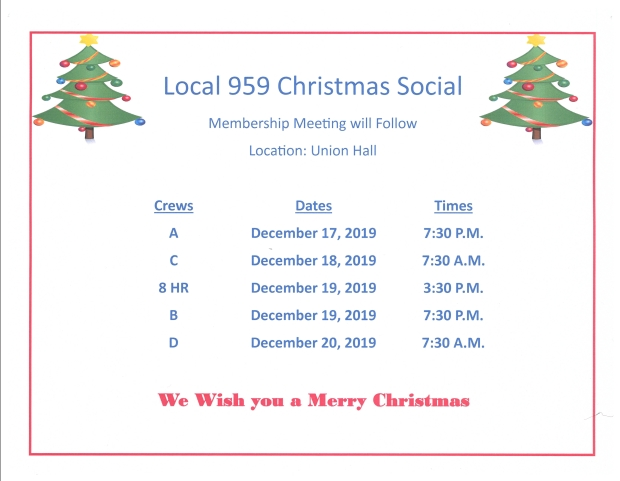 Dec 2019 membership meetings